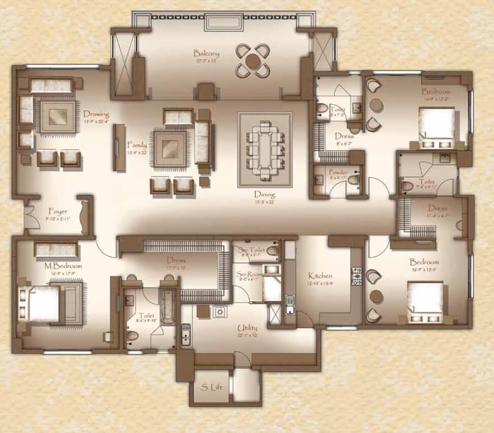 legacy cirocco apartment 3bhk sq 4390sqft 1