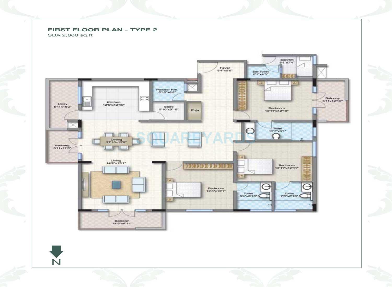 legacy mycon duv apartment 3bhk 2880sqft1
