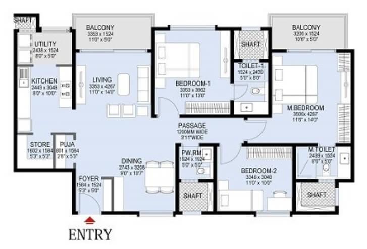 lnt raintree boulevard apartment 3bhk 1117sqft1