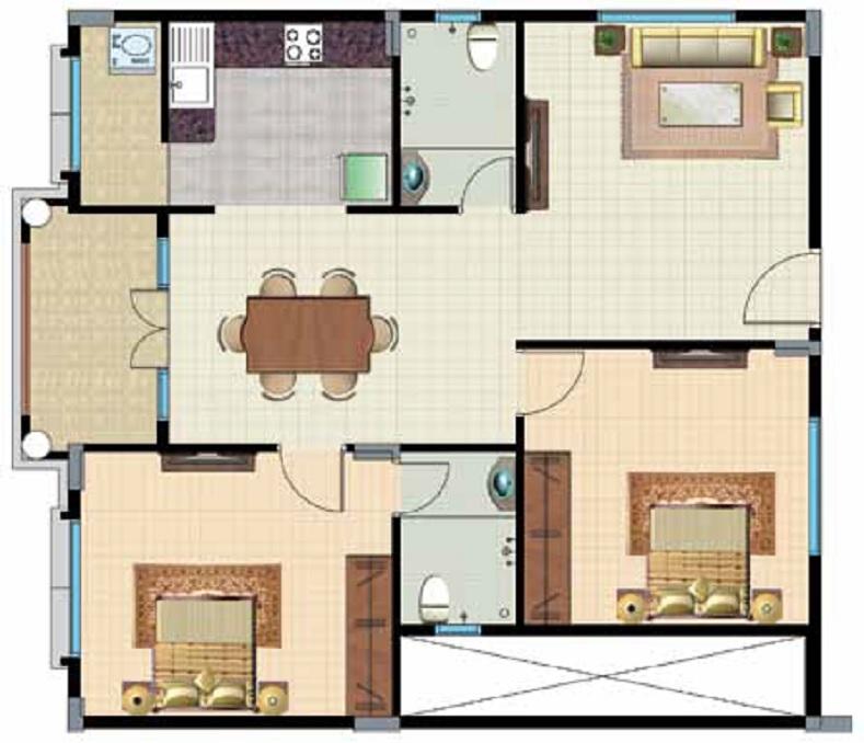 lotus palace apartment 2bhk 1150sqft151