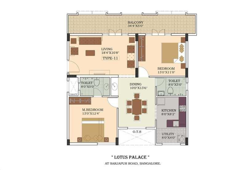 lotus palace apartment 2bhk 1175sqft151