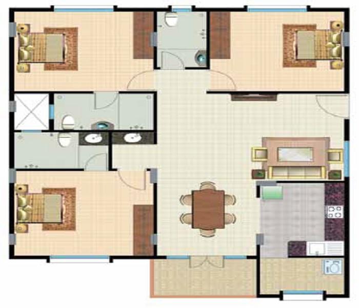 lotus palace apartment 3bhk 1520sqft151