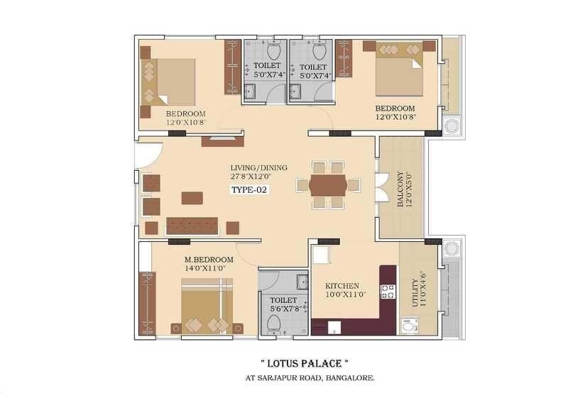 lotus palace apartment 3bhk 1635sqft151