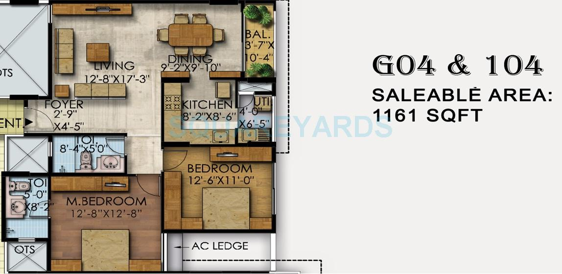 mahaveer ranches apartment 2bhk 1161sqft1