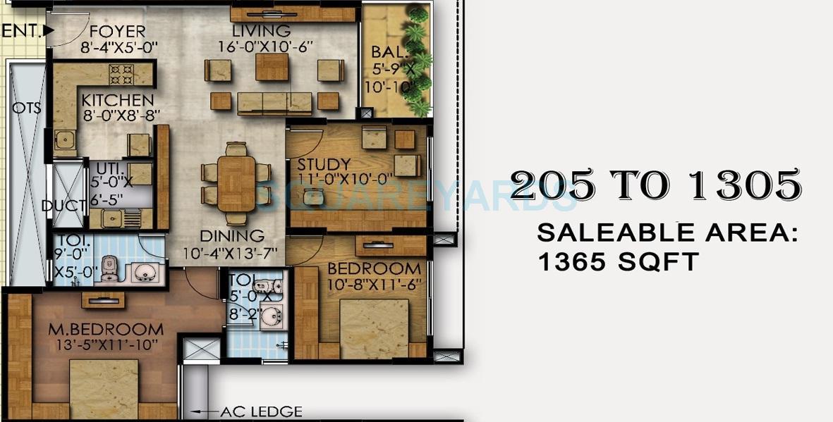 mahaveer ranches apartment 2bhk 1365sqft1