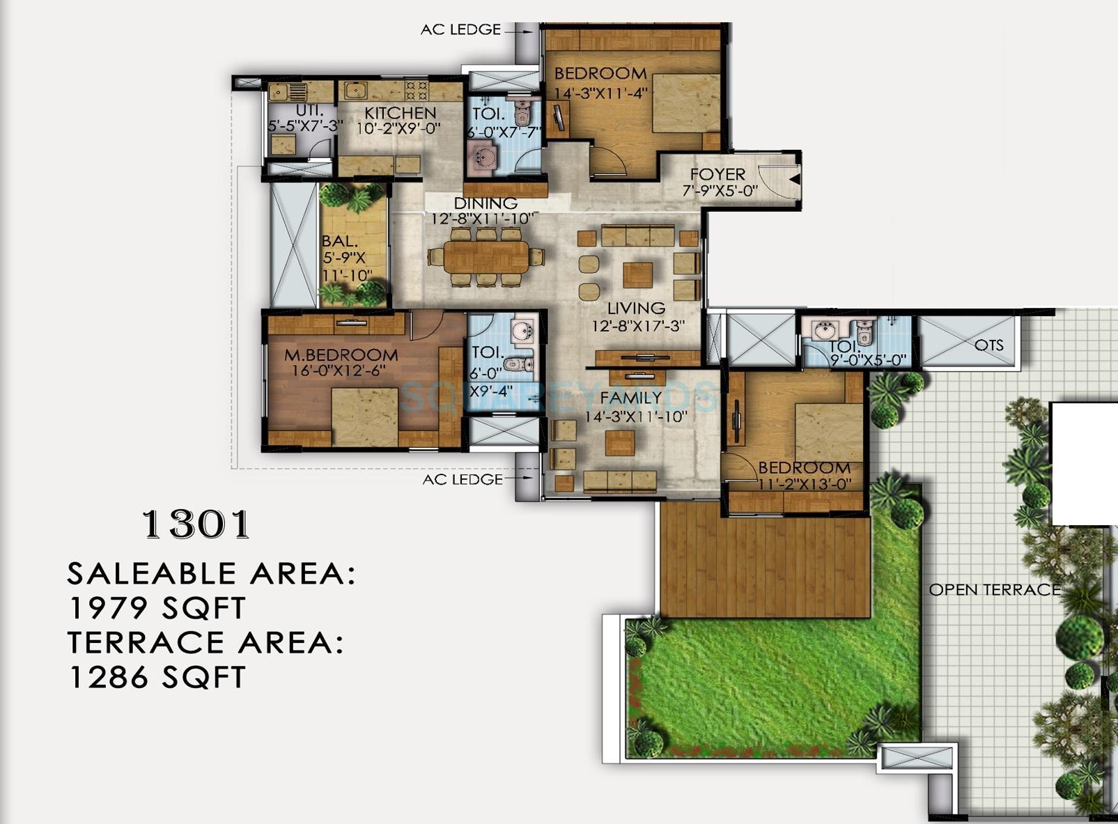mahaveer ranches apartment 2bhk 1979sqft1