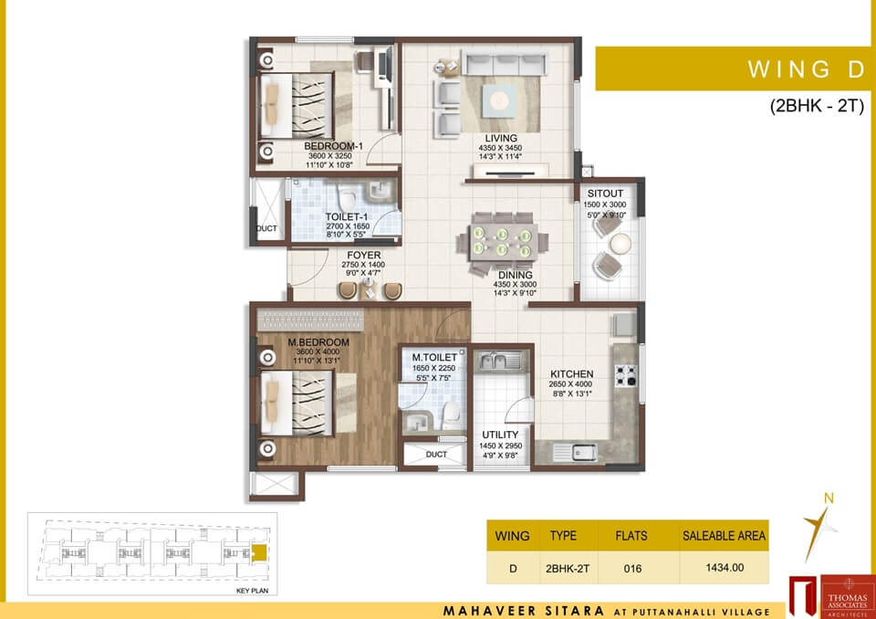 mahaveer sitara apartment 2bhk 907sqft 1