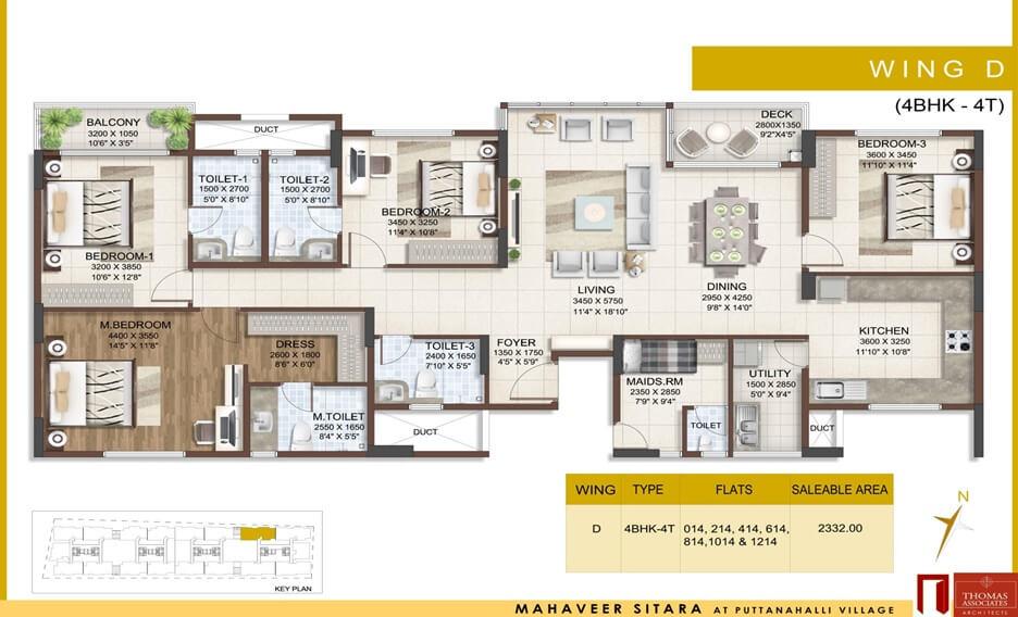 mahaveer sitara apartment 4bhk sq 1517sqft 1