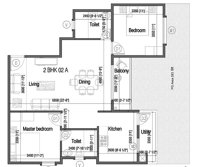 mana tropicale apartment 2bhk 1268sqft 1