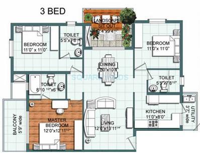 mana uber verdant apartment 3bhk 1834sqft1