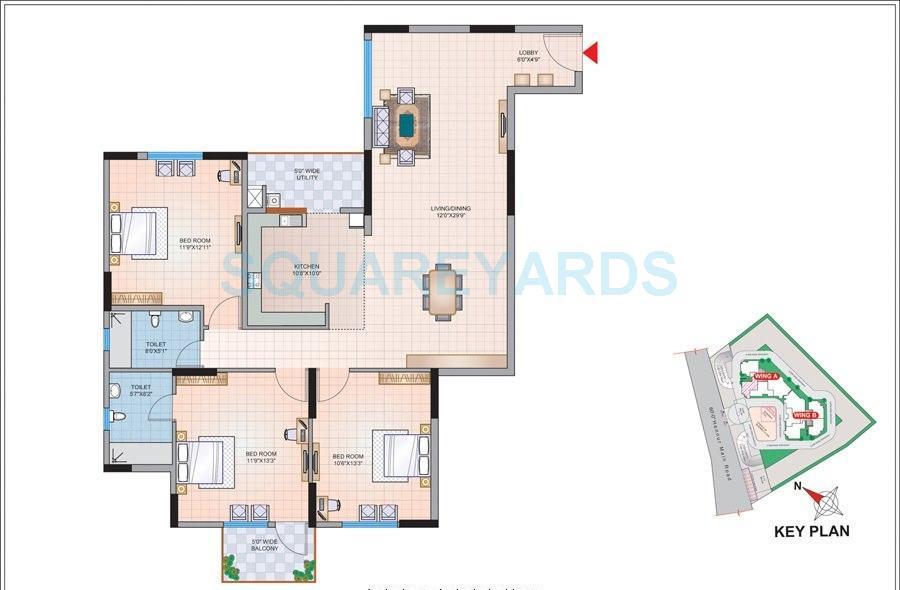 mantri astra apartment 3bhk 1484sqft1