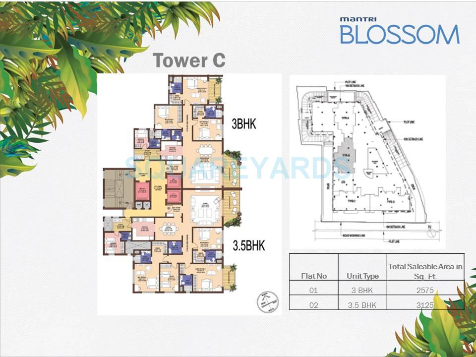mantri blossom apartment 3bhk 3125sqft1