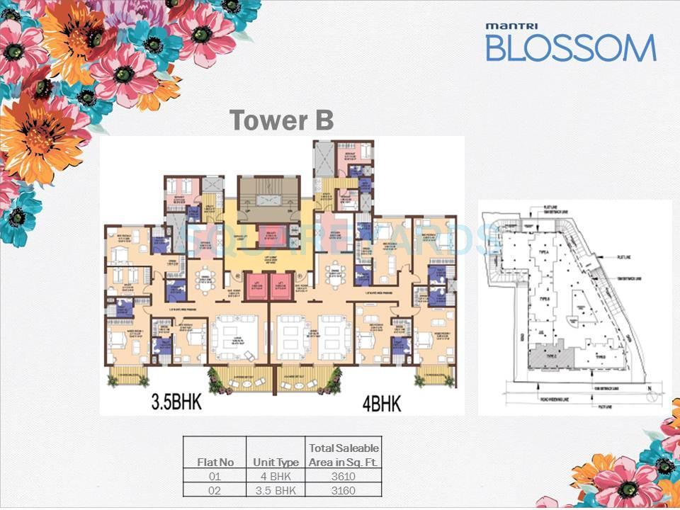 mantri blossom apartment 3bhk 3160sqft1