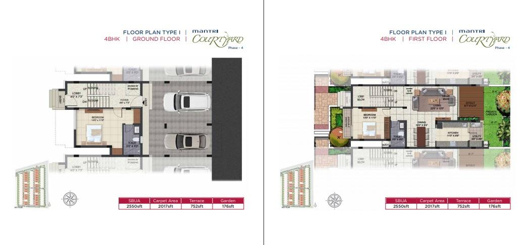 mantri courtyard phase 4 villa 4bhk 2550sqft11