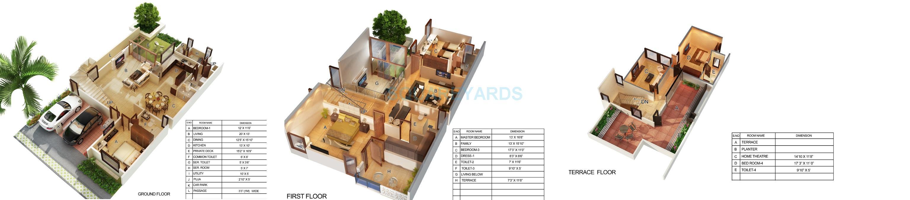 mantri courtyard villa 4bhk 2795sqft1