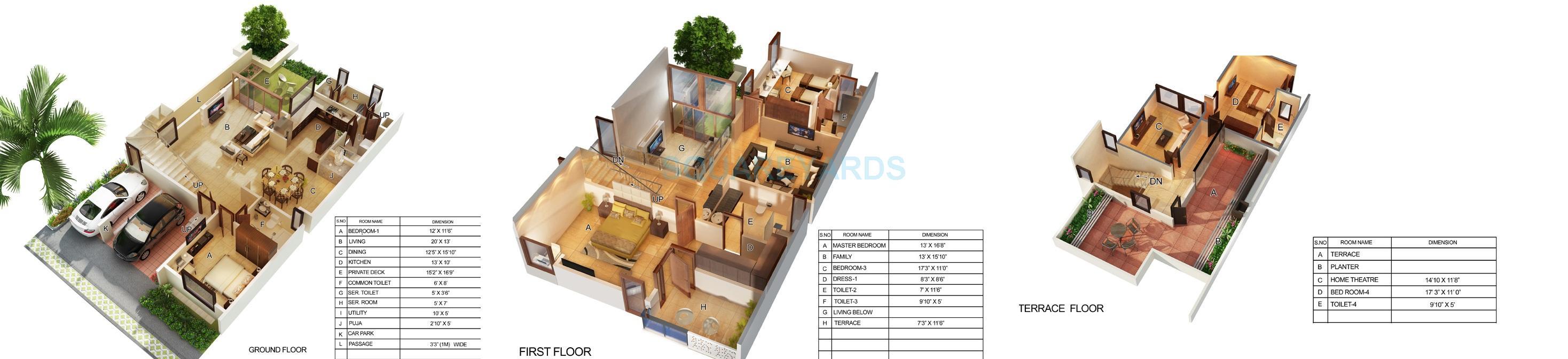 mantri courtyard villa 4bhk 3495sqft1