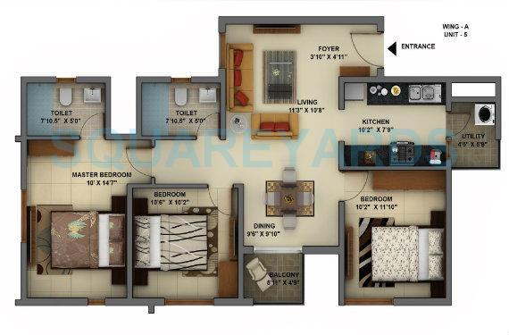mantri energia apartment 2bhk 1230sqft1