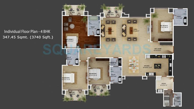 mantri espana apartment 4bhk 3740sqft1