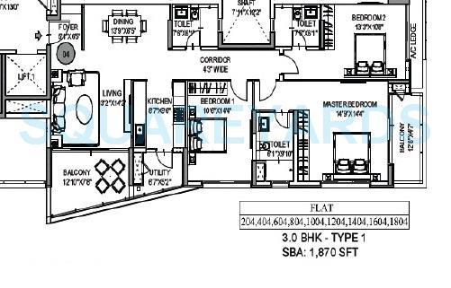 mantri lithos apartment 3bhk 1875sqft1