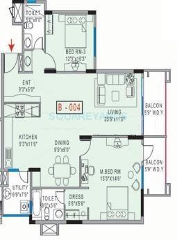 mantri mantri greens apartment 2bhk 1275sqft1