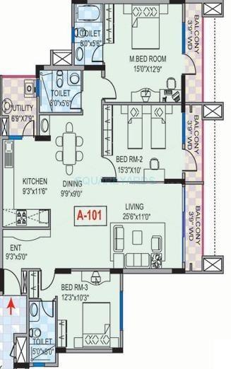 mantri mantri greens apartment 2bhk 1625sqft1
