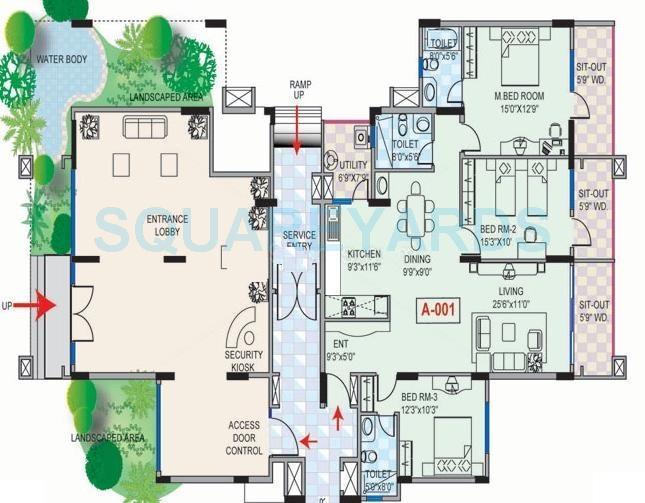 mantri mantri greens apartment 3bhk 1485sqft1