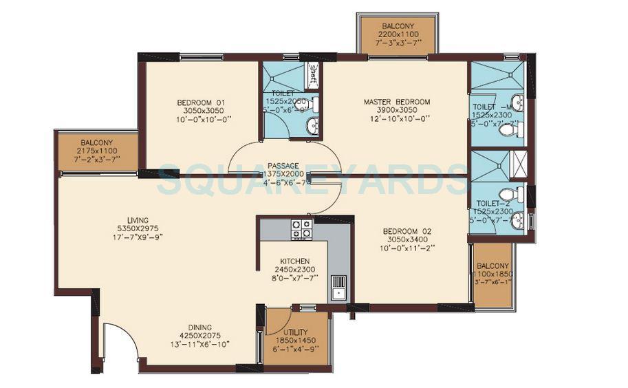 mantri mantri woodlands apartment 3bhk 1430sqft1