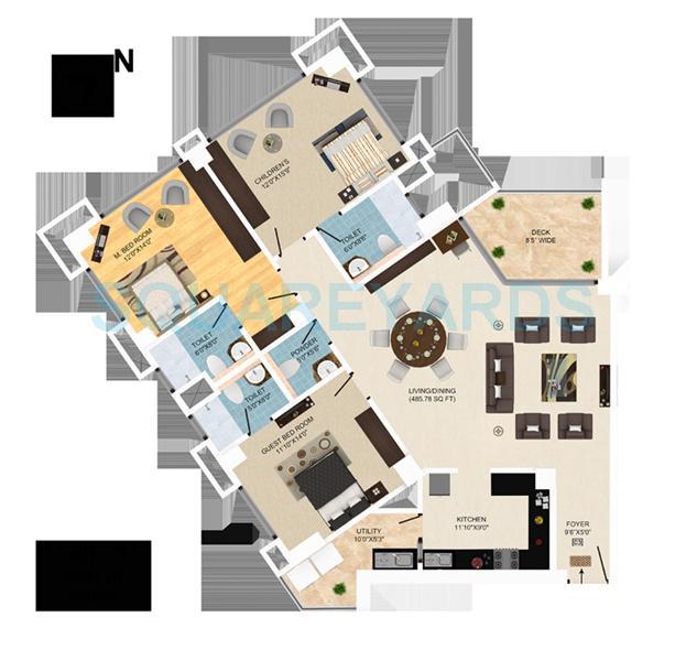 mantri pinnacle apartment 3bhk 2405sqft1