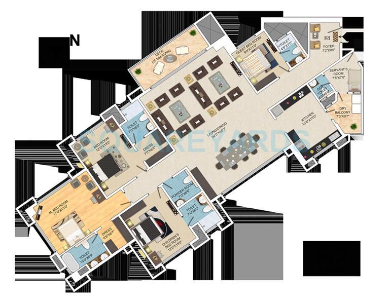 mantri pinnacle apartment 4bhk 3595sqft1