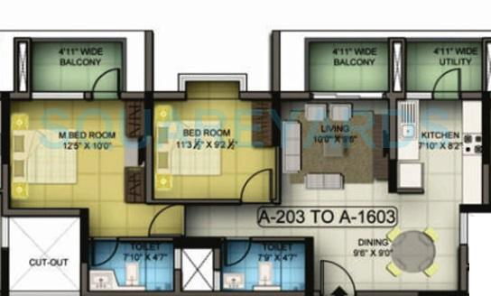 mantri premero apartment 2bhk 1093sqft1