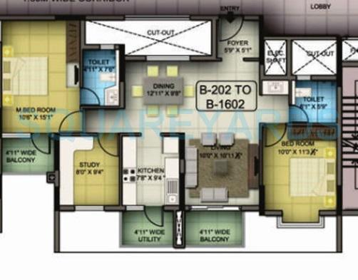 mantri premero apartment 2bhk 1347sqft1