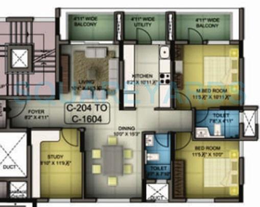 mantri premero apartment 2bhk 1419sqft1