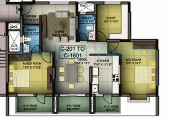 mantri premero apartment 2bhk 1475sqft1