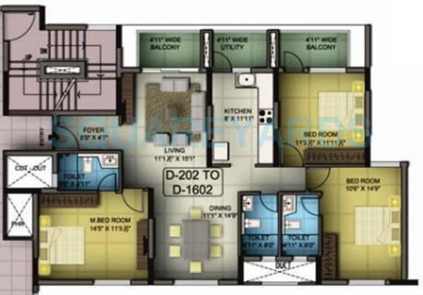 mantri premero apartment 3bhk 1667sqft1