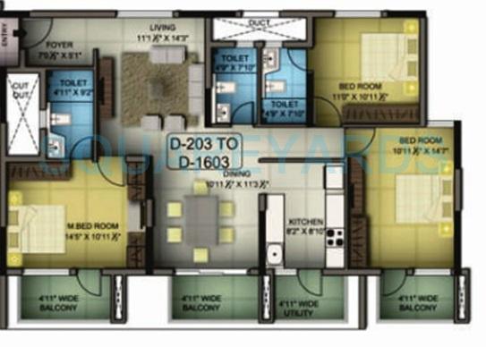 mantri premero apartment 3bhk 1685sqft1