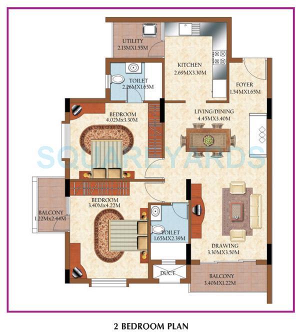 mantri royale apartment 2bhk 1255sqft1