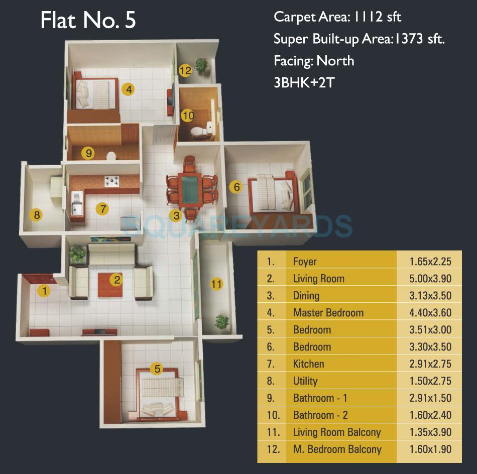 mj lifestyle amadeus apartment 3bhk 1373sqft 1