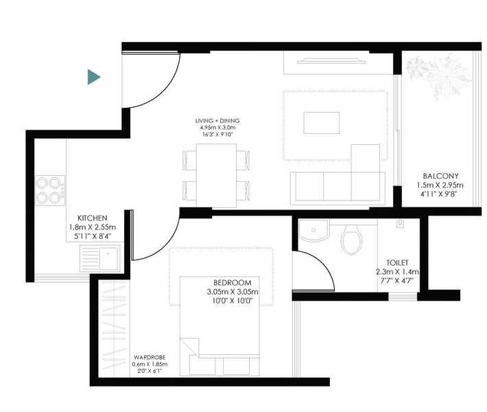modern soul tree serinity apartment 1 bhk 485sqft 20212614122657