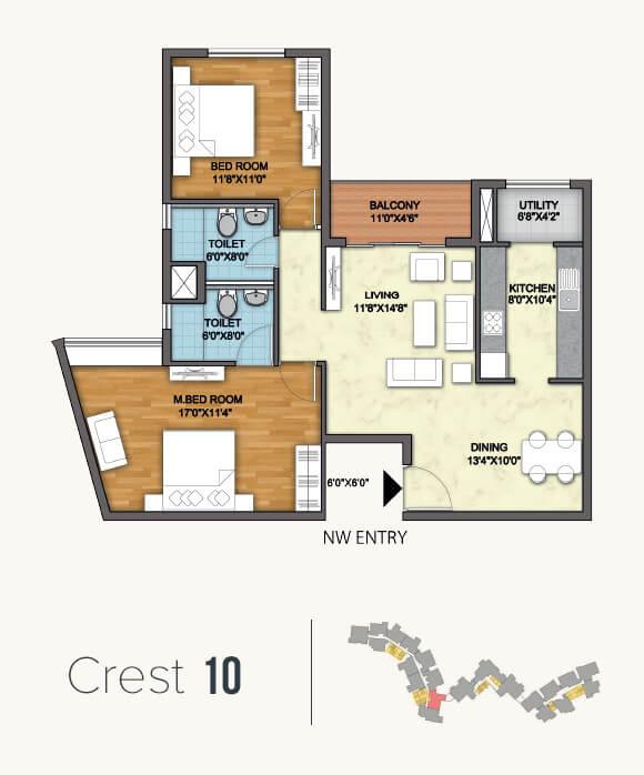 monarch aqua apartment 2bhk 1261sqft 1