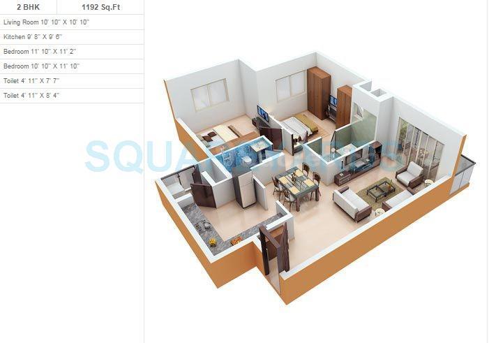 monarch properties monarch aqua apartment 2bhk 1192sqft 1