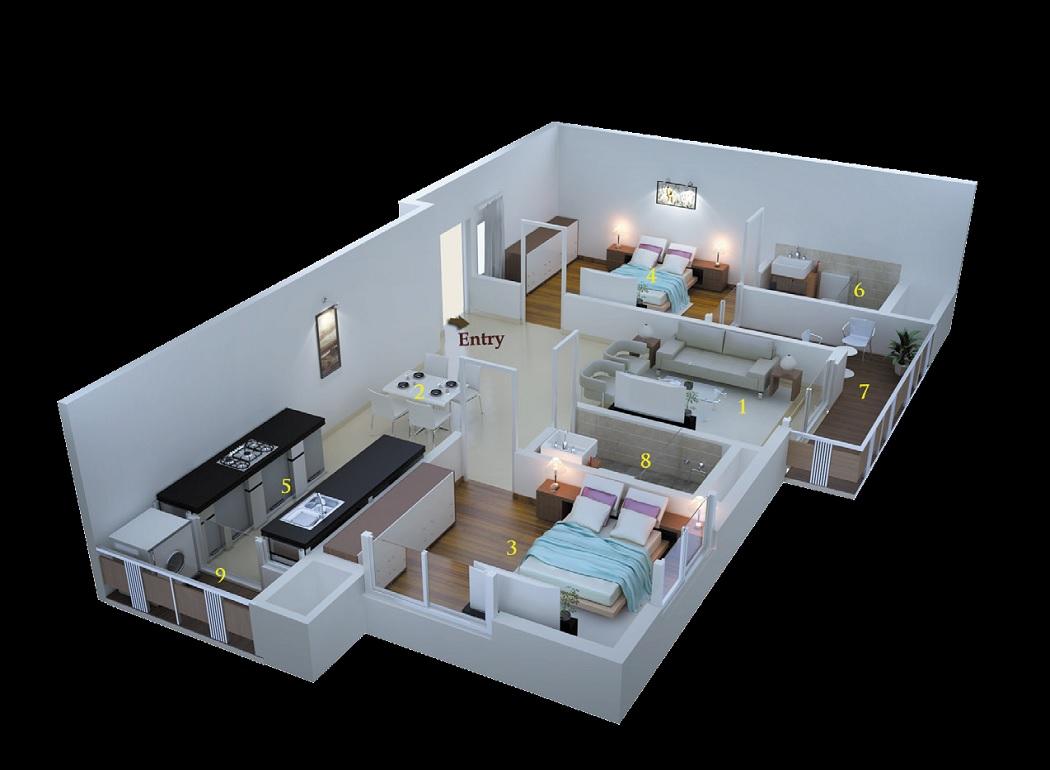 msr dwellings daffodils apartment 2bhk 1315sqft71