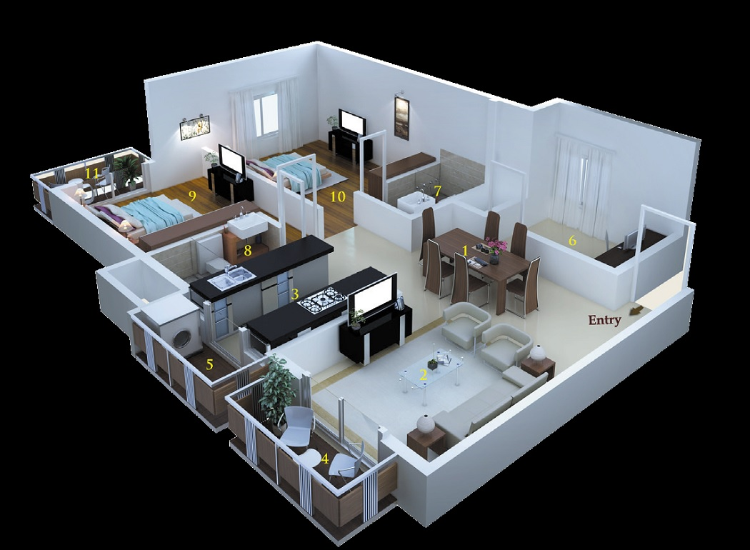 msr dwellings daffodils apartment 2bhk 1375sqft71