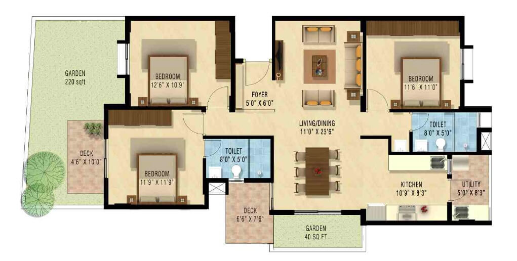 nakshatra upscale celestia apartment 3bhk 1430sqft1