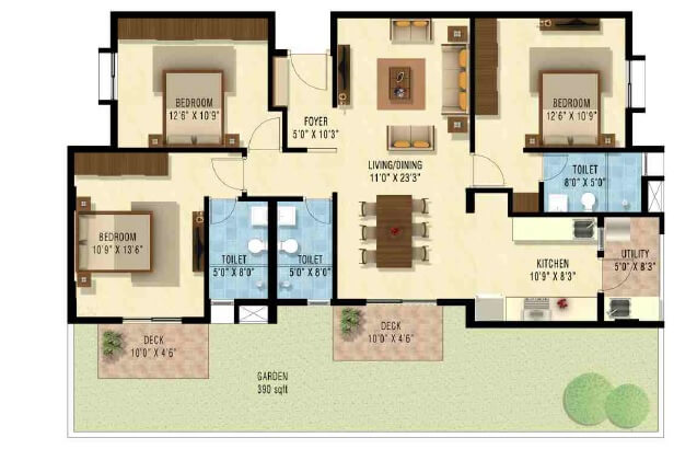 nakshatra upscale celestia apartment 3bhk 1510sqft1