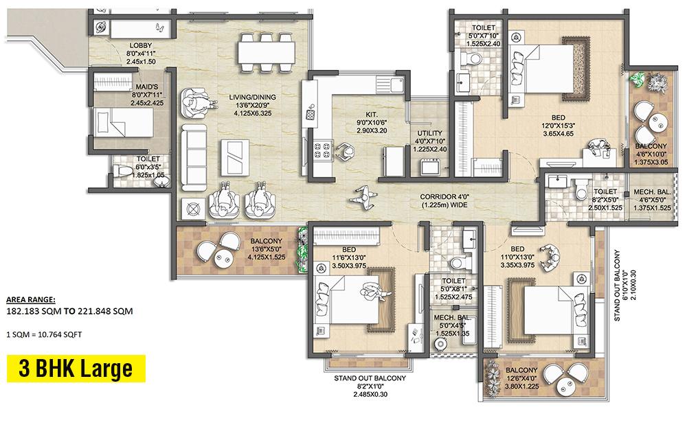 nitesh melbourne park apartment 4bhk sq 2946sqft 1
