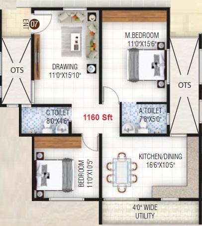 nvr sun pearl block b apartment 2 bhk 1160sqft 20210619130648
