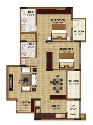 oceanus classic apartment 2bhk 1226sqft1