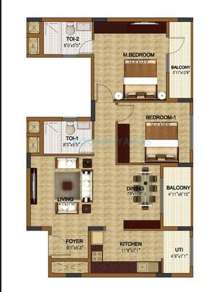 oceanus classic apartment 2bhk 1238sqft1