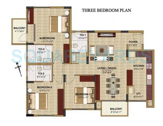 oceanus classic apartment 3bhk 1653sqft1