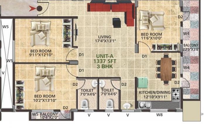 opera white house apartment 3bhk 1337sqft81